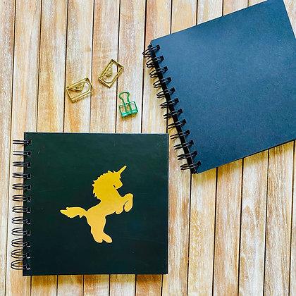 Cuaderno Folia Unicornio / Interior Negro