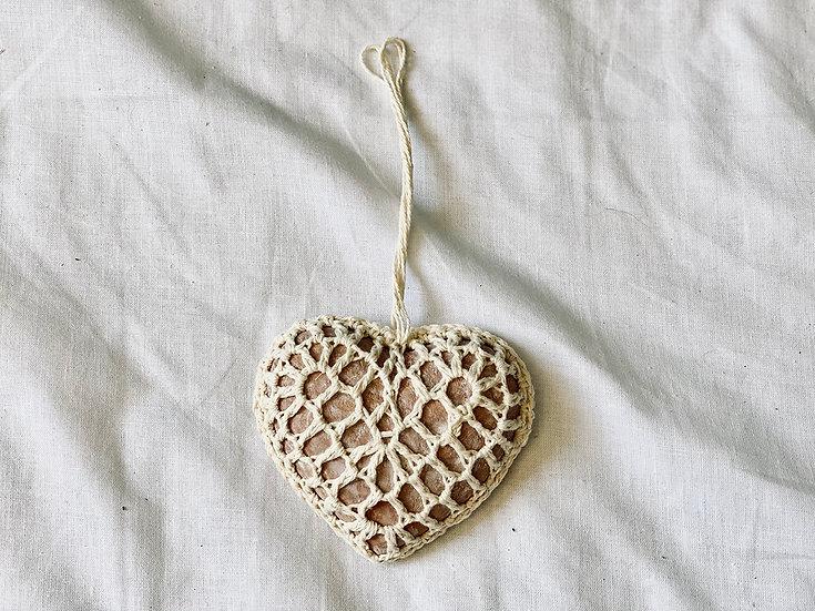 Colgante Corazón crochet