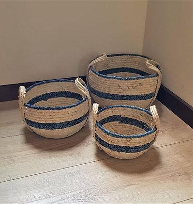 Set de canastos fibras naturales