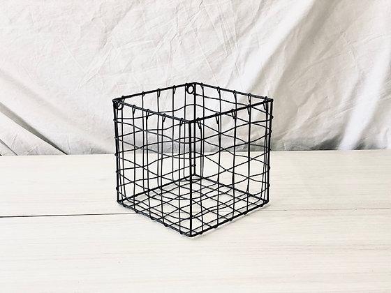 Canasto repisa cubo alambre 20 cm