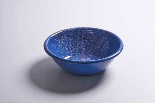 Bowl S enlozado azul