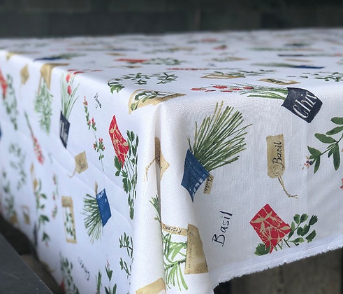 Mantel de género lavanda 250x155 cm