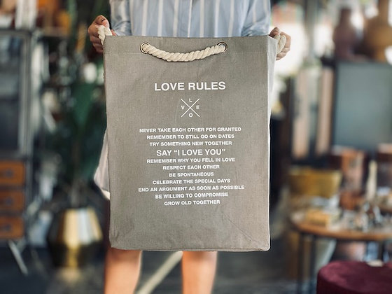 Bolsa Love rules Visón cordón