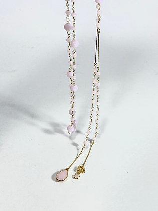 Collar de 1 mt cristales rosados