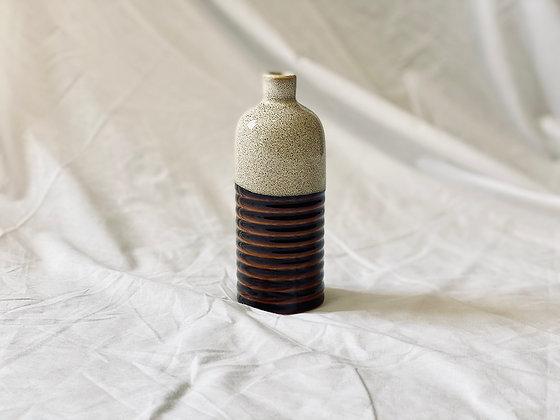 Botella bicolor S crema