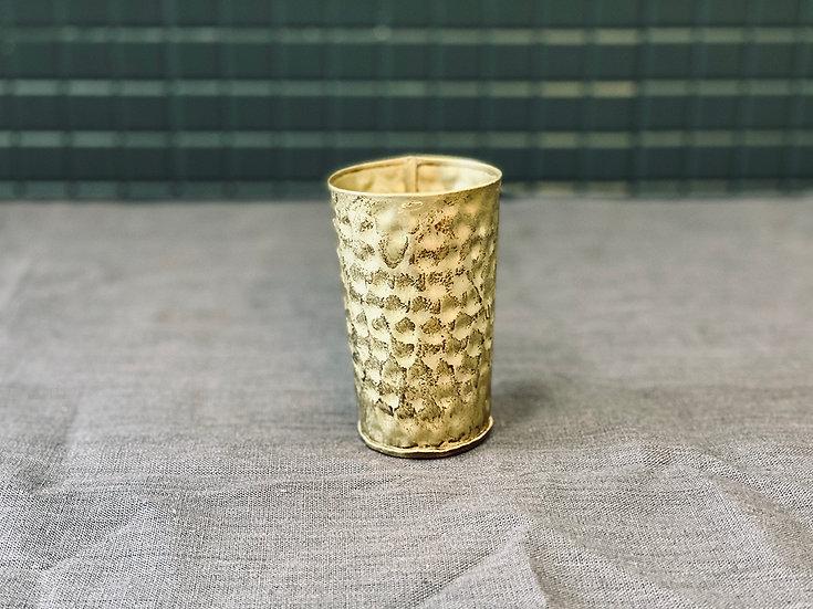 Florero latón dorado marteleado S
