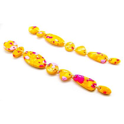 Aros Amelia amarillo multicolor