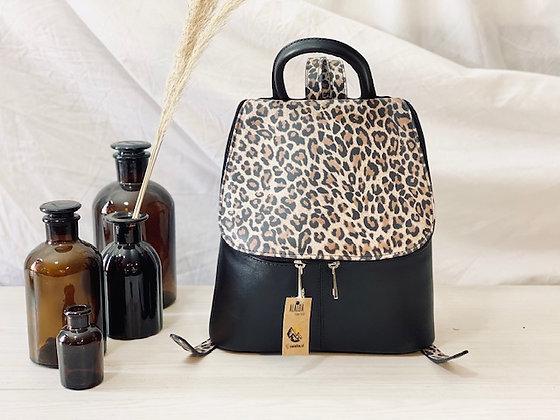 Mochila Vera print leopardo