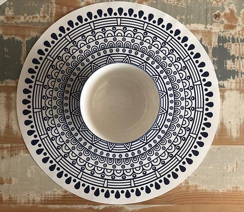Base de platos mandala papel 12 un
