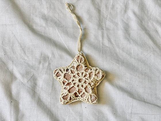 Colgante Estrella crochet
