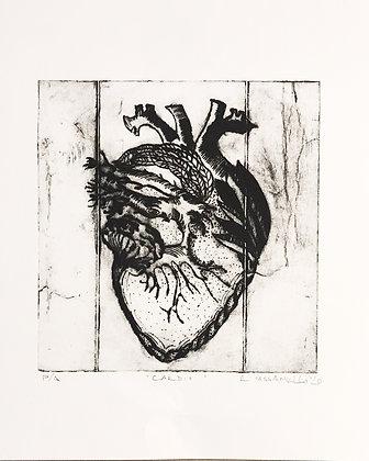 Grabado Cardio monocromo 22x28 cm