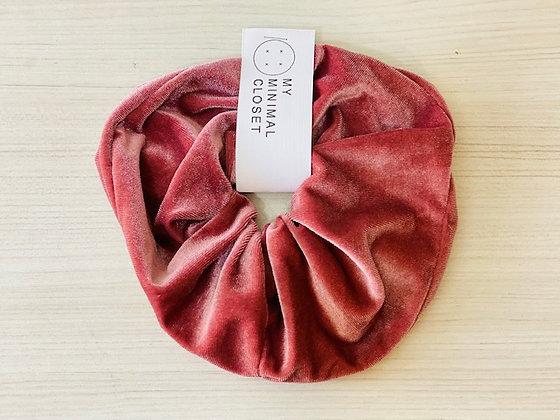 Maxi scrunchie velvet rosa