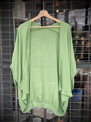 Tapado corto lino verde