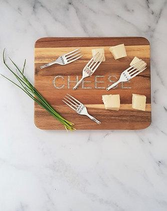 Tabla cheese con mini tenedores