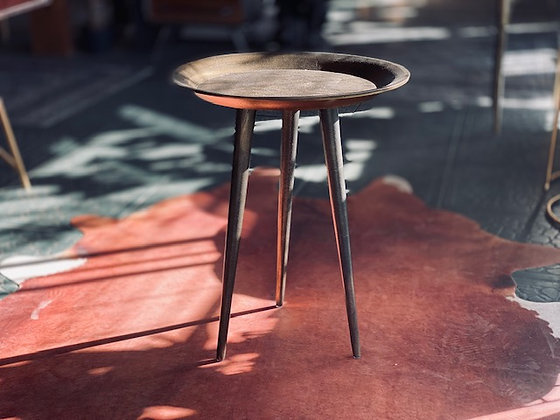 Mesa bandeja hierro bronce