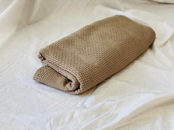 Toalla algodón cuerpo café