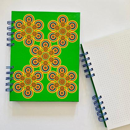 Cuaderno flores verde