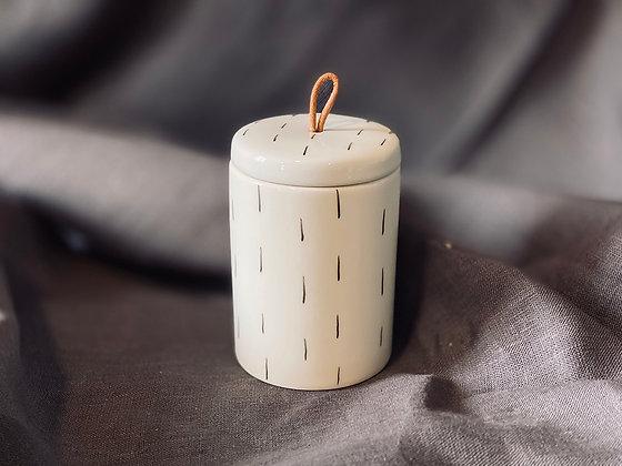 Frasco con tapa cerámica B&W