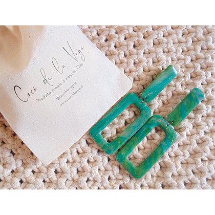 Aros Simona tonos verdes marmolados
