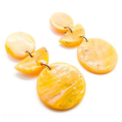 Aros Verónica Naranjos y tonos oscuros marmolados