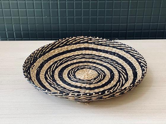 Fuente fibra natural negro sin asa Ø 38 cm
