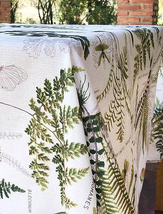 Mantel de género hojas verdes 250x155 cm