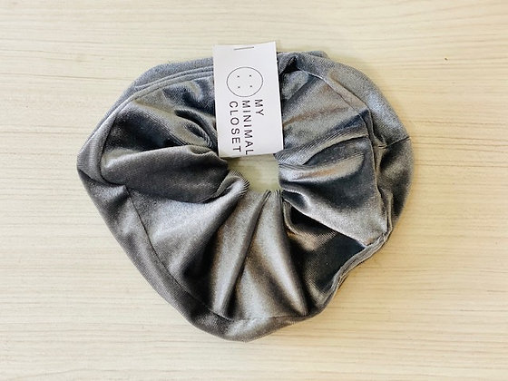 Maxi scrunchie velvet gris
