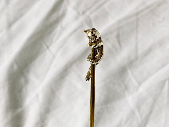Cuchara dorada gatito