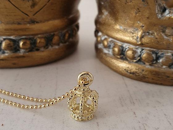 Collar Corona Real Oro