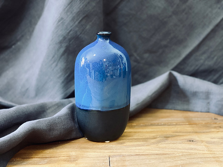 """Botellón cerámica azul """"S"""""""