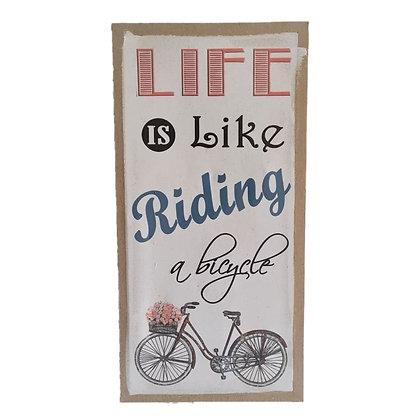 Cuadro lino bicicleta