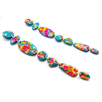 Aros Amelia turquesa multicolor