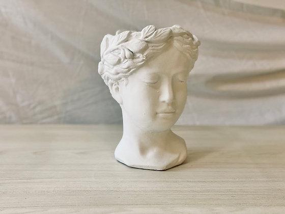 Maceta rostro mujer blanco