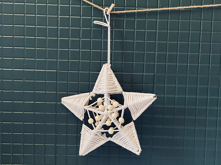 Estrella macramé S