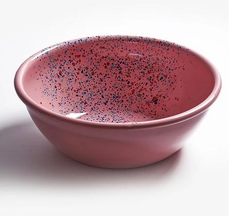 Bowl L enlozado rosado