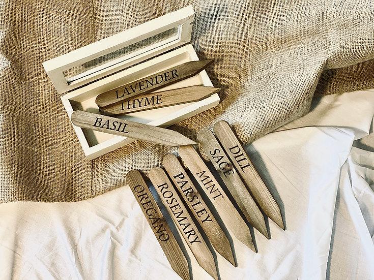 Set de estacas para huerto