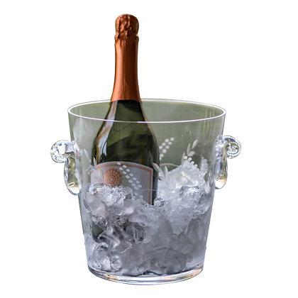 Hielera champagne cristal tallado