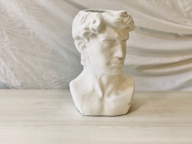 Maceta busto & rostro hombre blanco
