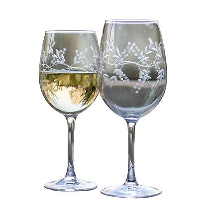 Copas vino tinto y blanco cristal tallado