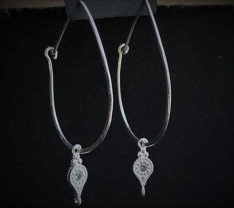 Argollas ovaladas de plata