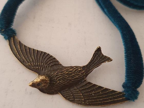 Pájaro Terciopelo Azul
