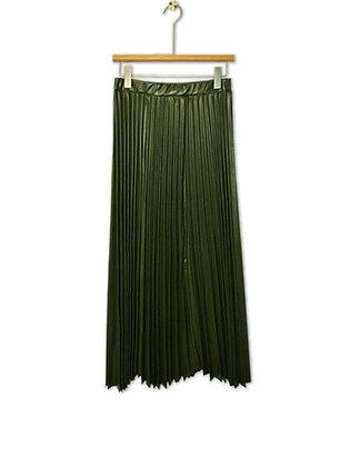 Falda Plisada verde militar