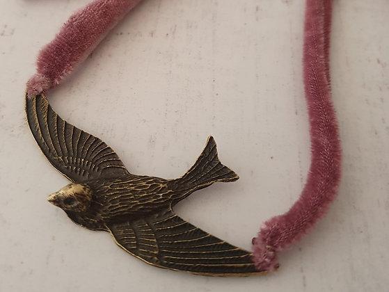 Pájaro Terciopelo Palo rosa