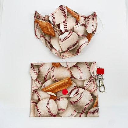 Mascarilla niños con bolsita Beisbol
