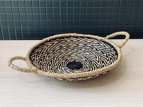 Fuente fibra natural negro Ø 38 cm
