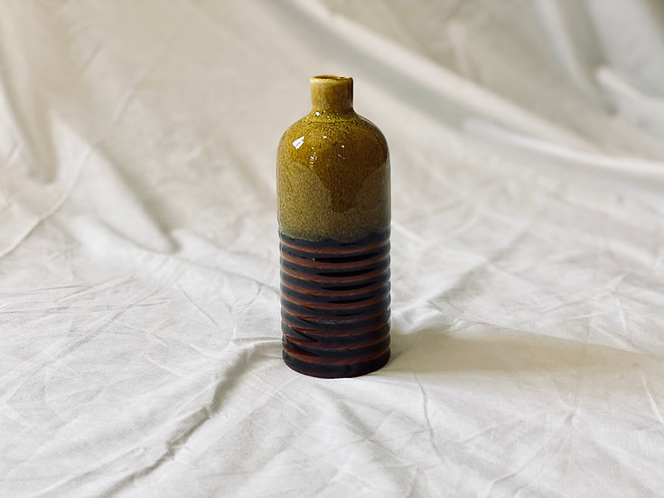 Botella bicolor S mostaza