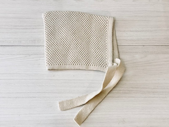 Gorro lana crema