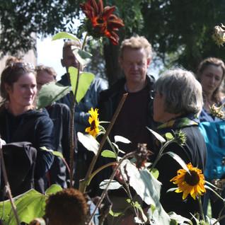 bloemiste Ceciel Geerards ontvangt bezoekers in haar pluktuin