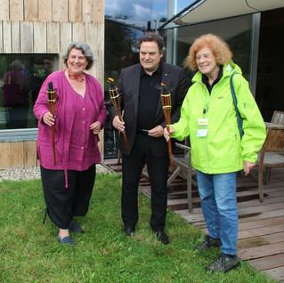 officiële opening OMD door wethouder Ben van Hees (Nijmegen), Bea Peeters (IVN) en Kien van Hövell (landgoed Grootstal)