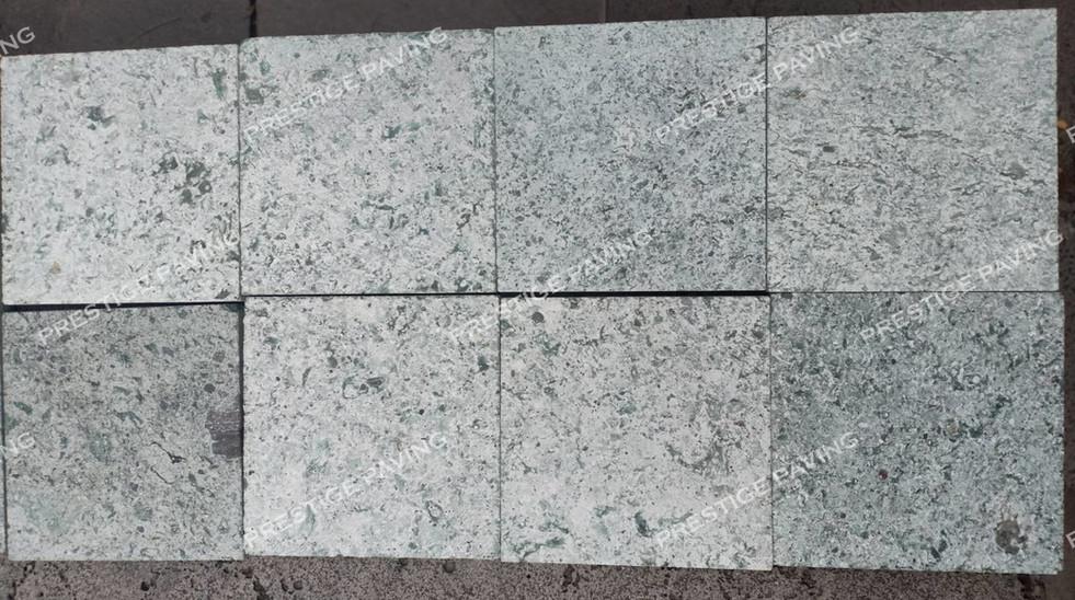 กระเบื้องหินบาหลี ซูกาบูมิ สีเขียว ผิว Honed 10x10